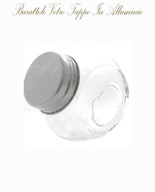 Barattoli Portaconfetti Vetro Con Tappo Alluminio