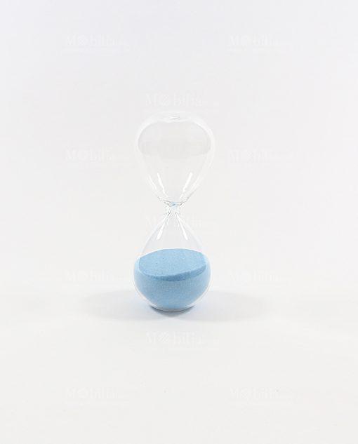 clessidra piccola 3 minuti azzurra ad bomboniere