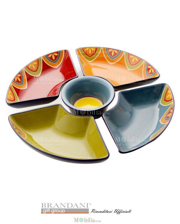 Antipastiera 5 pezzi ceramica Brandani