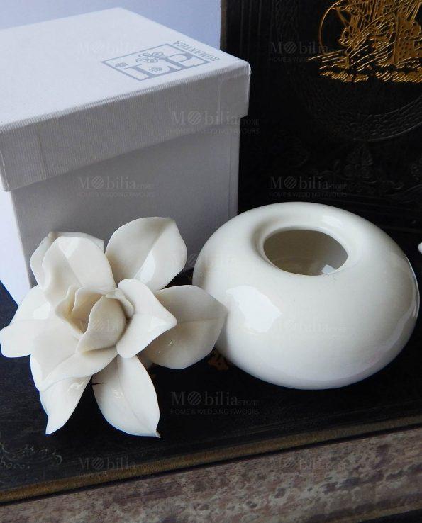 Profumatore Fiore Gardenia Porcellana
