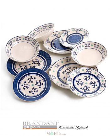 Servizio Piatti Ceramica 18 Pezzi Panarea Brandani