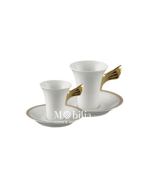 Tazzina da caffè Versace Medaillon Meandre D'Or