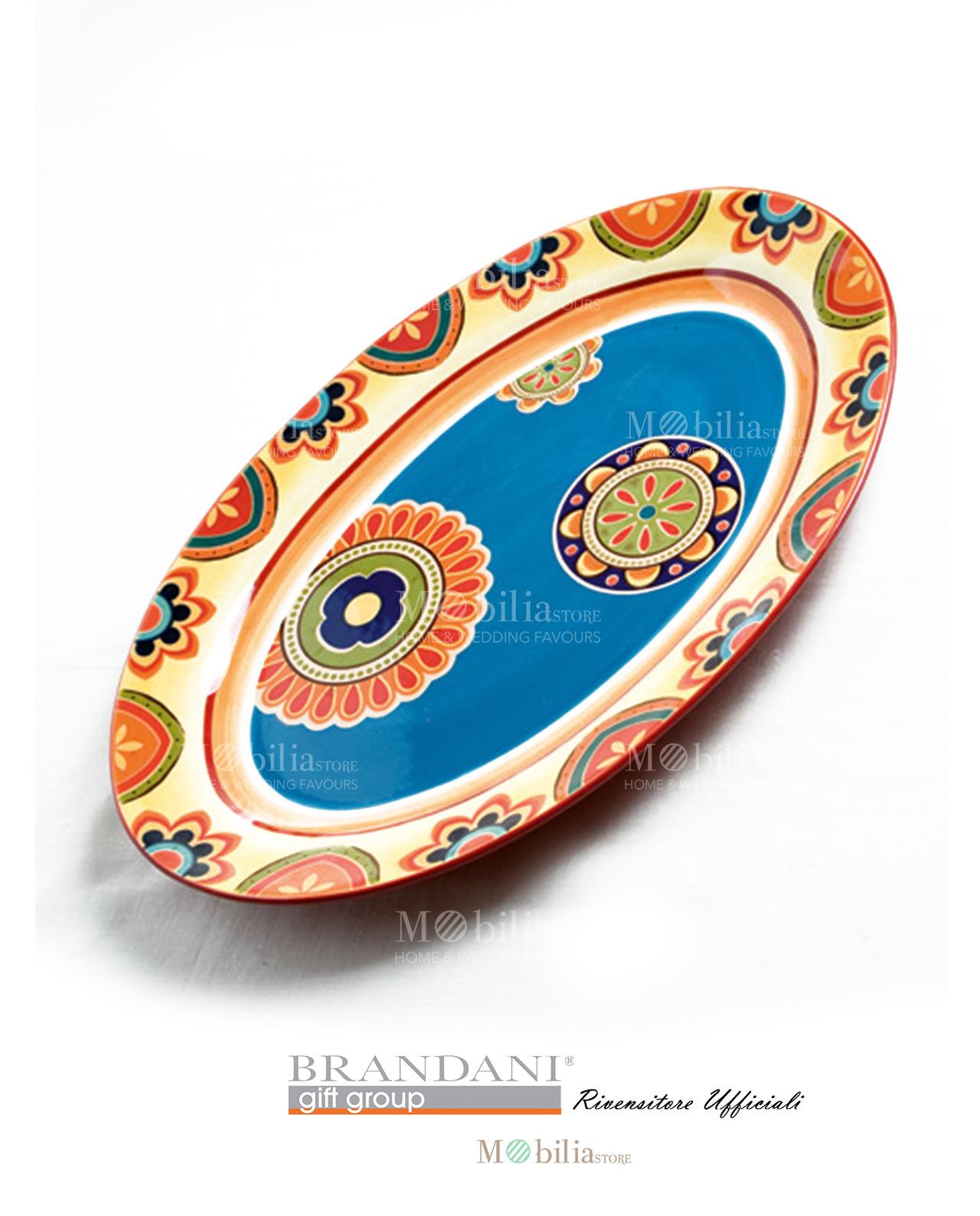 Piatto da portata ovale grande ceramica brandani - Piatto da portata ...