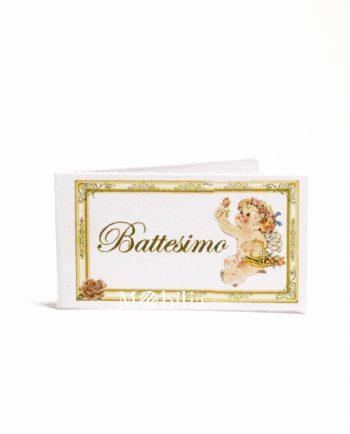Bigliettini bomboniere Battesimo Angioletto e Cornice