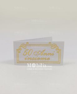 Bigliettini con cornice e scritta 50 anni insieme