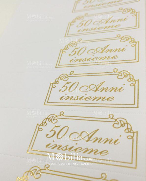 Bigliettini bomboniera 50 Anni Matrimonio