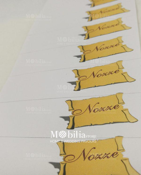 bigliettini con pergamena gialla da stampare o stampati