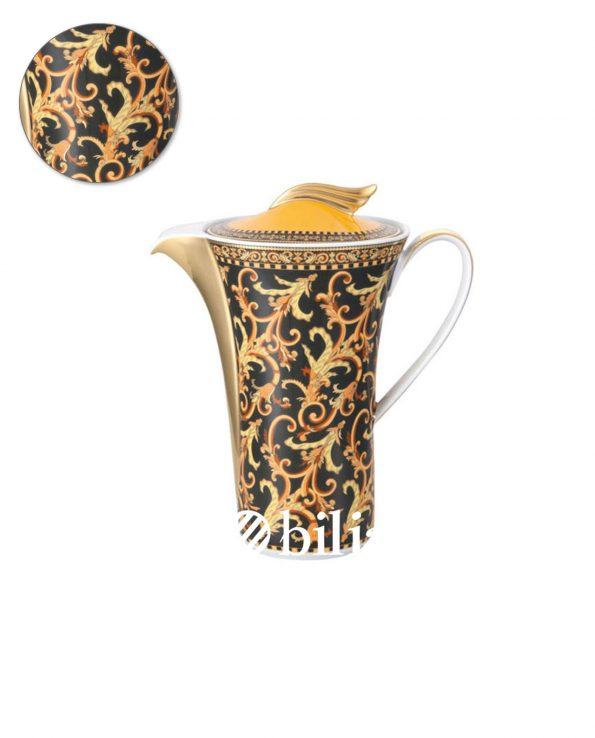 Caffettiera Versace Ikarus Barocco oro e nero