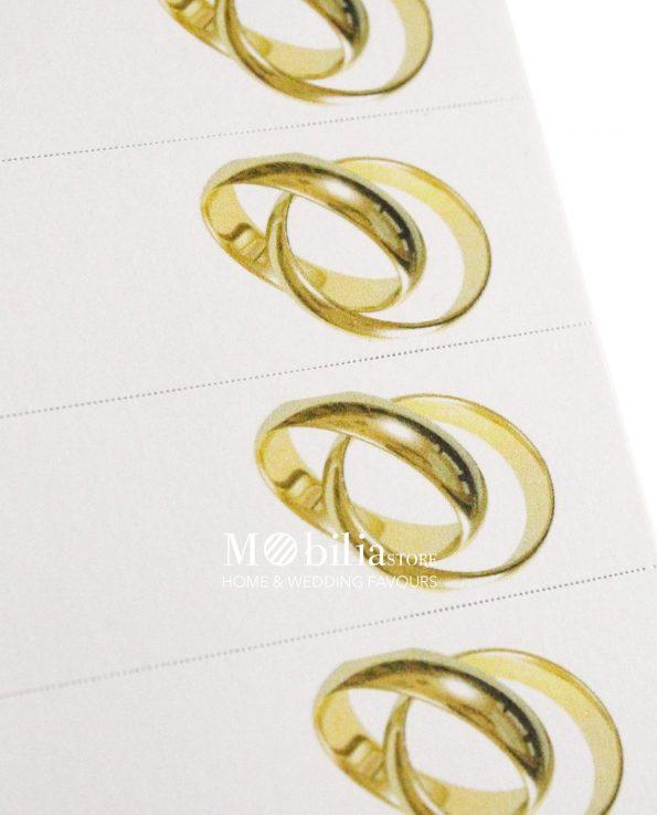 Bigliettini bomboniere Matrimonio Fedi Oro