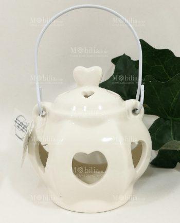 Lanterna Ceramica con Cuori