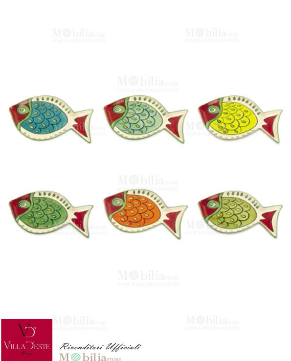 Piatti Colorati da Portata Pesce Creta Villa d'Este
