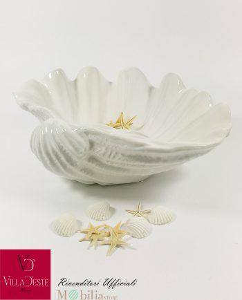 Ciotola Conchiglia Ceramica Bianca Villa D'Este