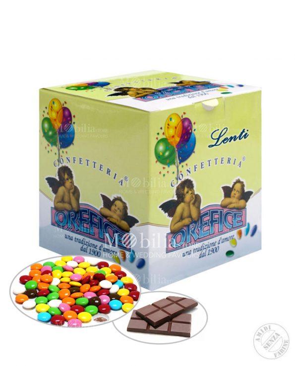 Confetti ripieni Lenti al cioccolato