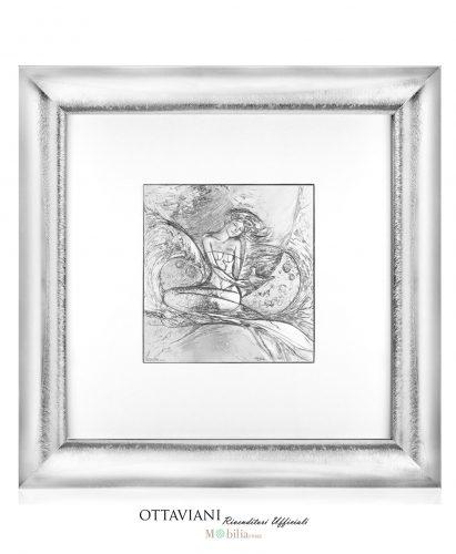 Quadro Sirenetta argento Ottaviani