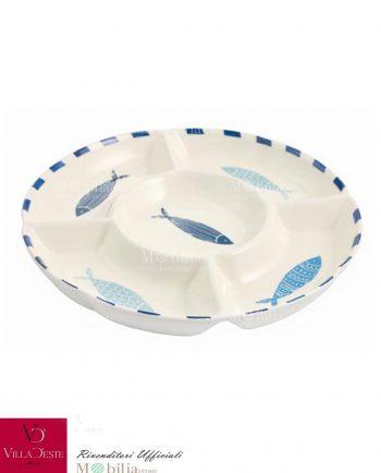 Antipastiera Ceramica Pesci Blu La Isla Villa d'Este
