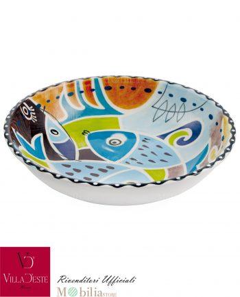 Ciotola Ceramica Pesci Colorati Panarea Villa d'Este