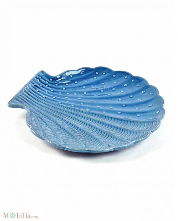 Piatti a Forma di Conchiglia Blu