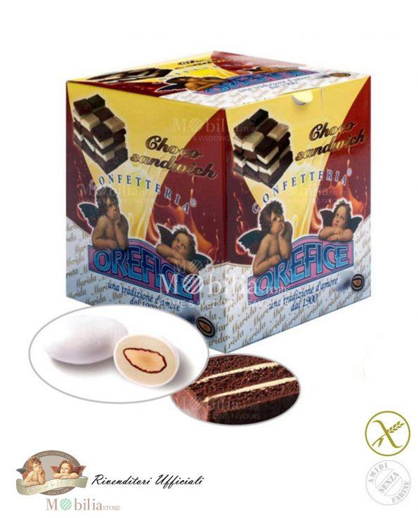 Confetti ripieni senza Glutine Mandorla Cioccolato Sandwich