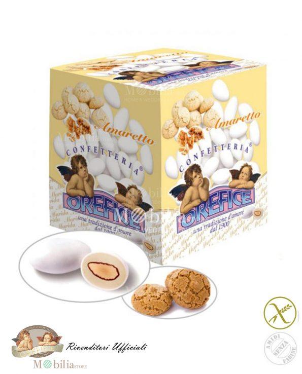 Confetti ripieni senza Glutine Mandorla Cioccolato Amaretto