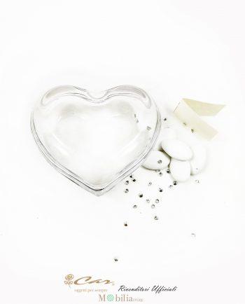 Scatole portaconfetti vetro cuore