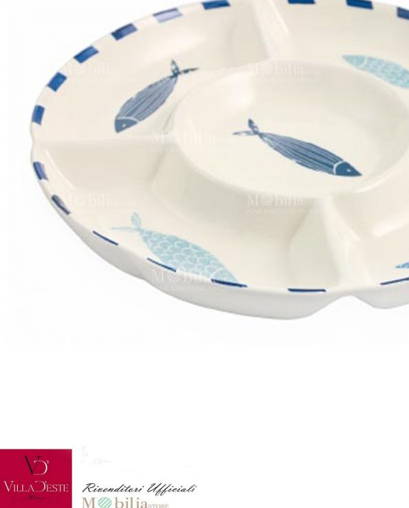 Antipastiera Ceramica Mare La Isla Villa d'Este