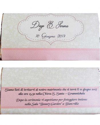 Invito Decorato Per Tavoletta Cioccolato
