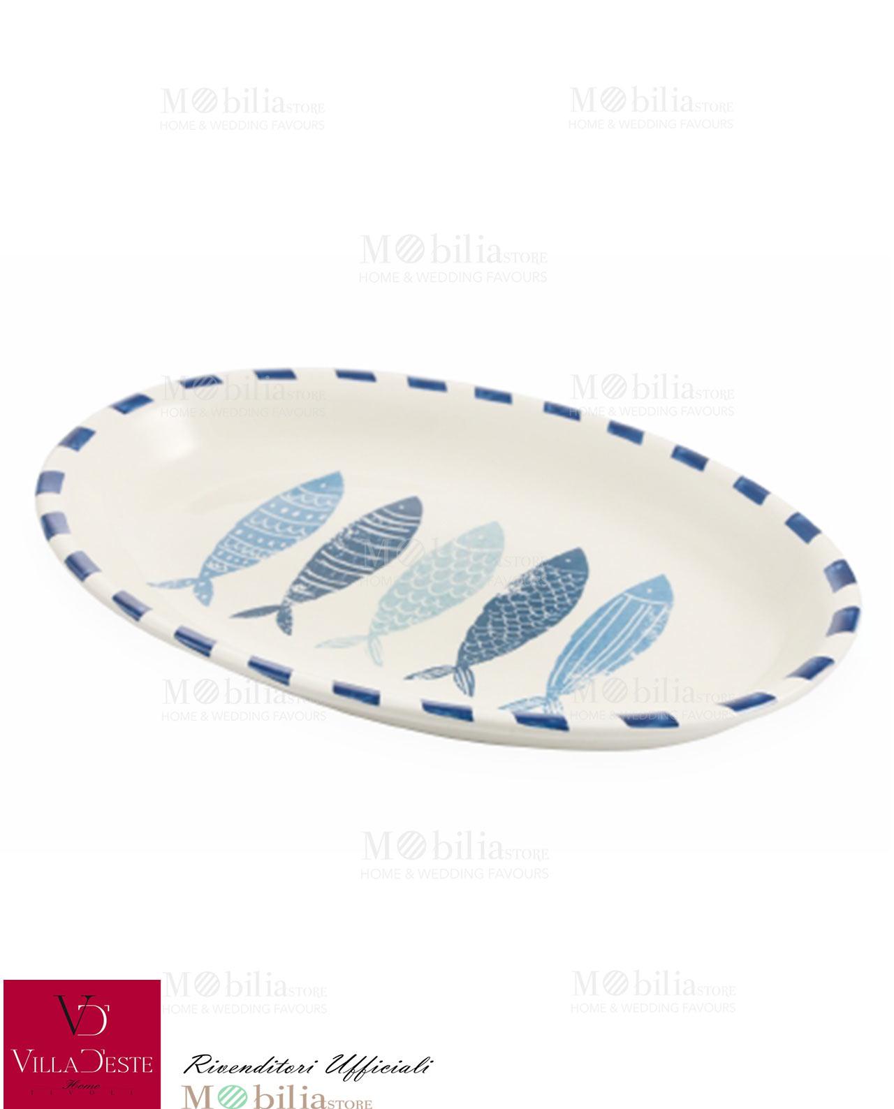 Piatti ovali da portata pesci blu la isla villa d 39 este - Piatti da portata particolari ...