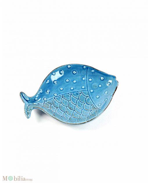 pesci da portata in ceramica blu