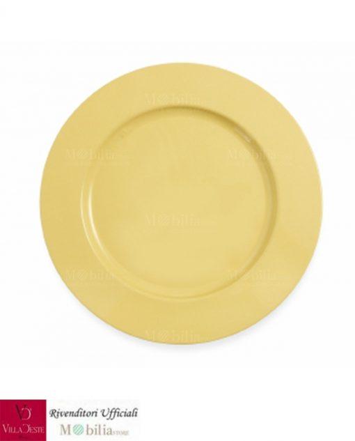 sottopiatto giallo