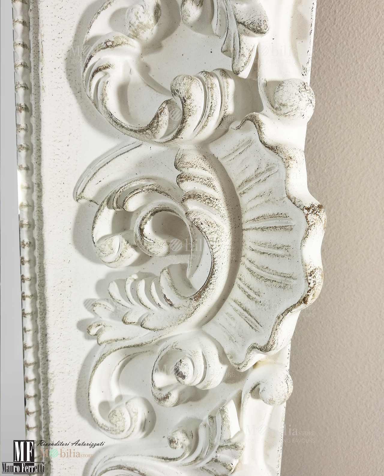 Specchio da parete shabby chic mobilia store home favours - Parete shabby chic ...