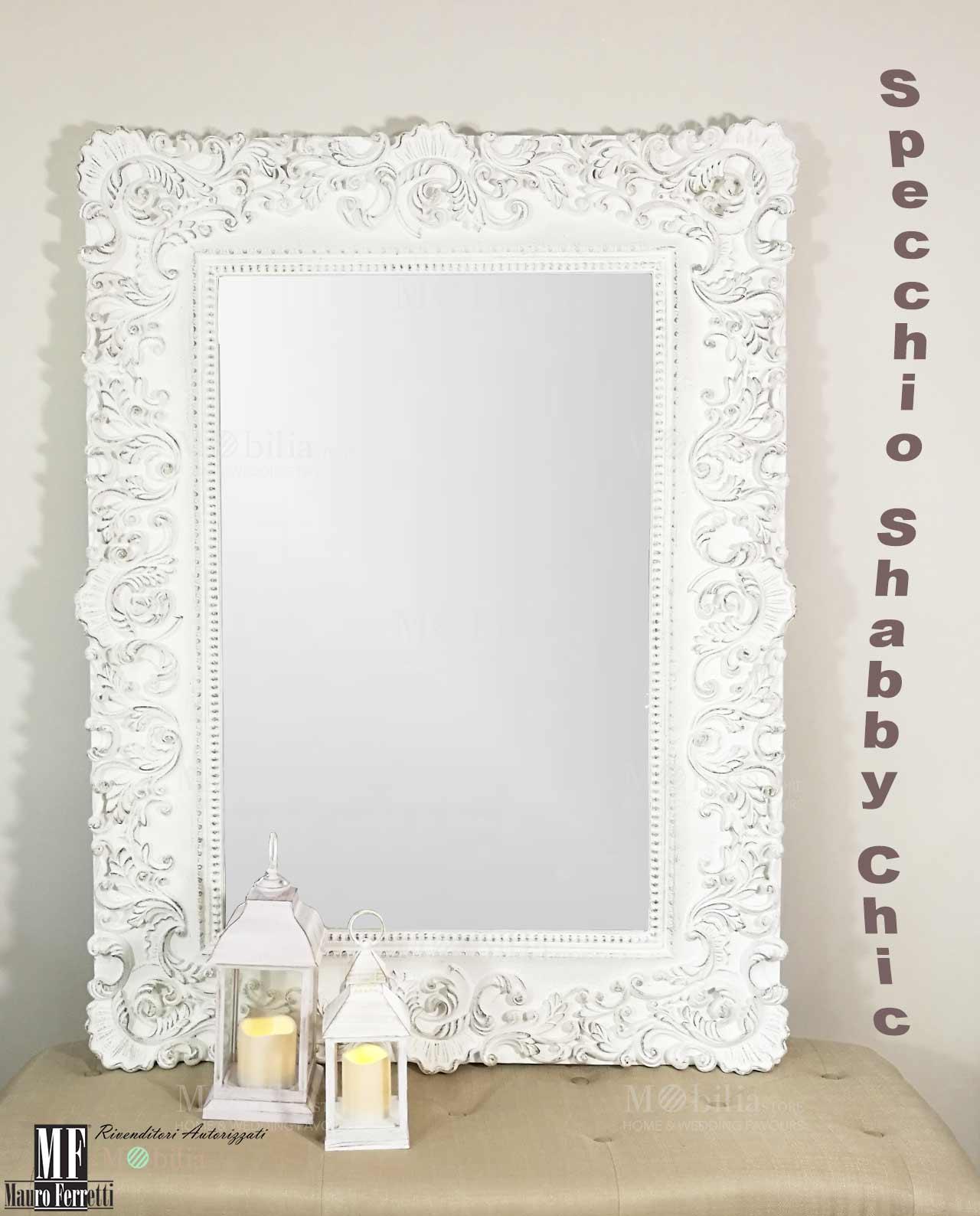 Specchio da parete shabby chic in offerta mobiliastore - Specchio ovale shabby chic ...