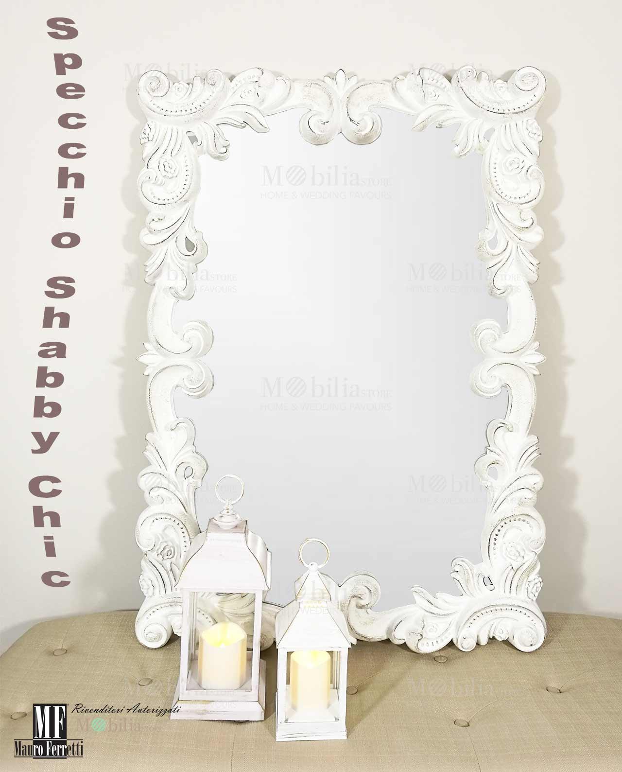 Specchio da Parete Grande Decorativo Decapato - MobiliaStore