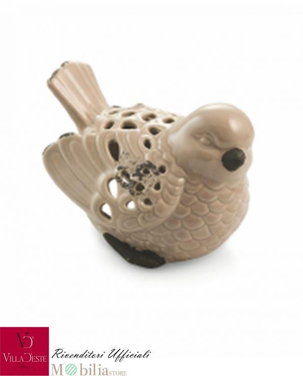 Portacandele Uccellini Decorativi Ceramica Villa d'Este