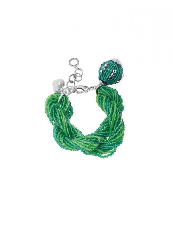Bracciale torchon verde Ottaviani