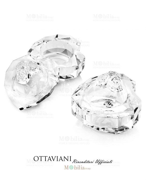 Porta bon bon con rose Ottaviani