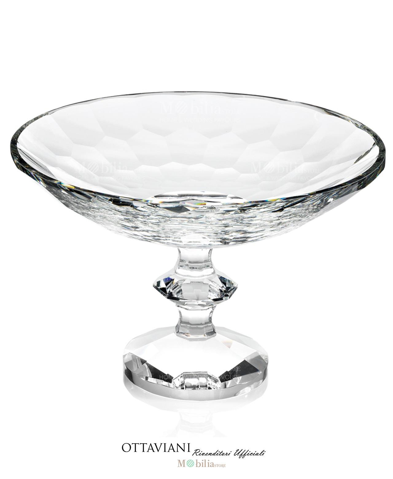 Alzata cristallo Ottaviani - Mobilia Store Home & Favours