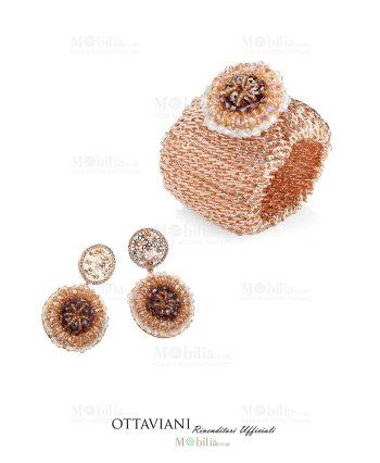 Orecchini Bracciale con strass e perline Ottaviani