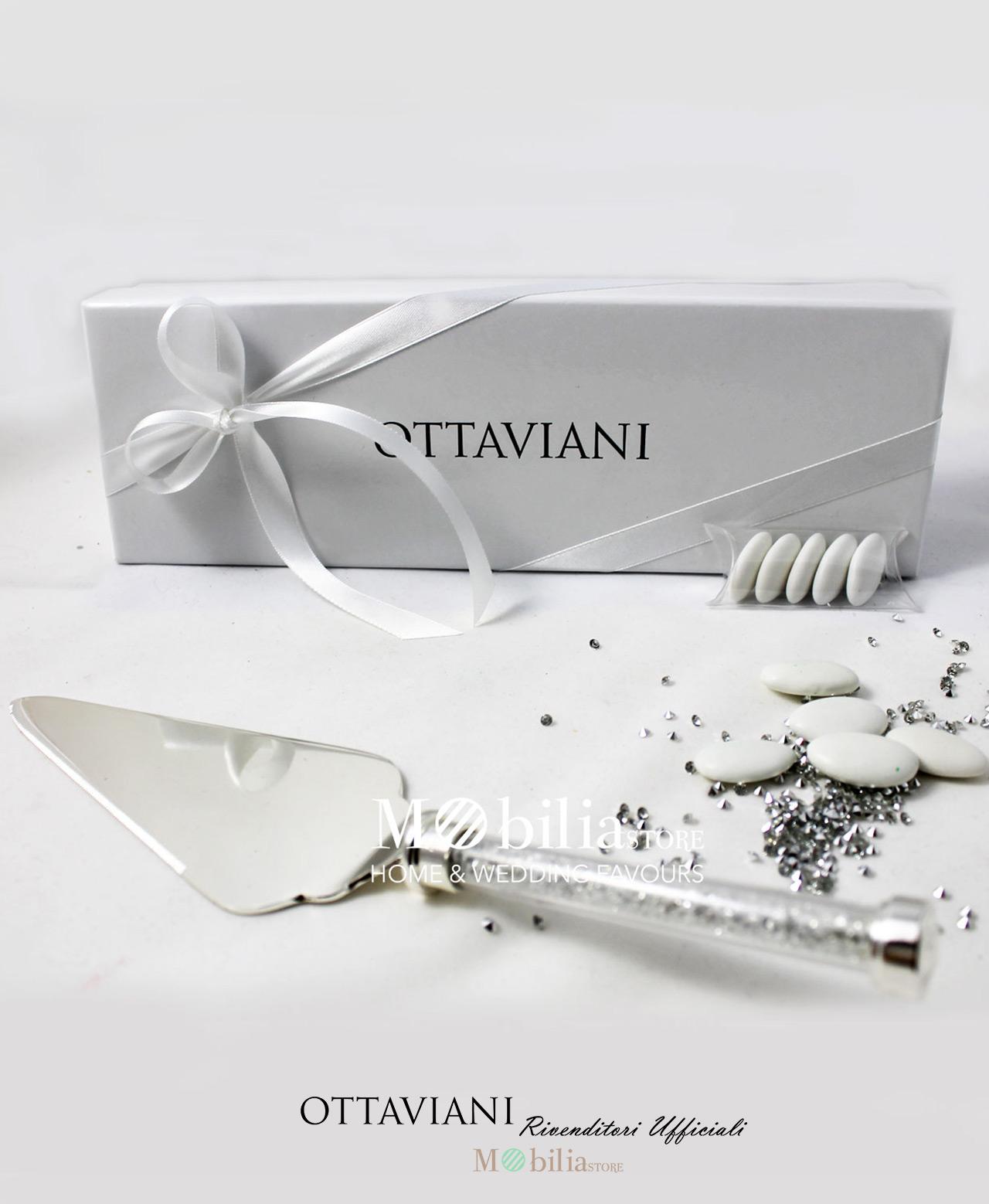 9cb403a3b6de60 Bomboniera paletta torta con cristalli Diamonds Ottaviani - Mobilia ...
