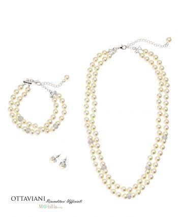 Parure con perle Ottaviani