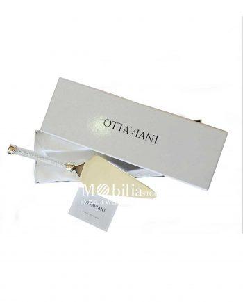 paletta torta ottaviani diamonds con cristalli e metallo argentato