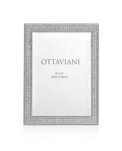 portafoto argento con strass Ottaviani