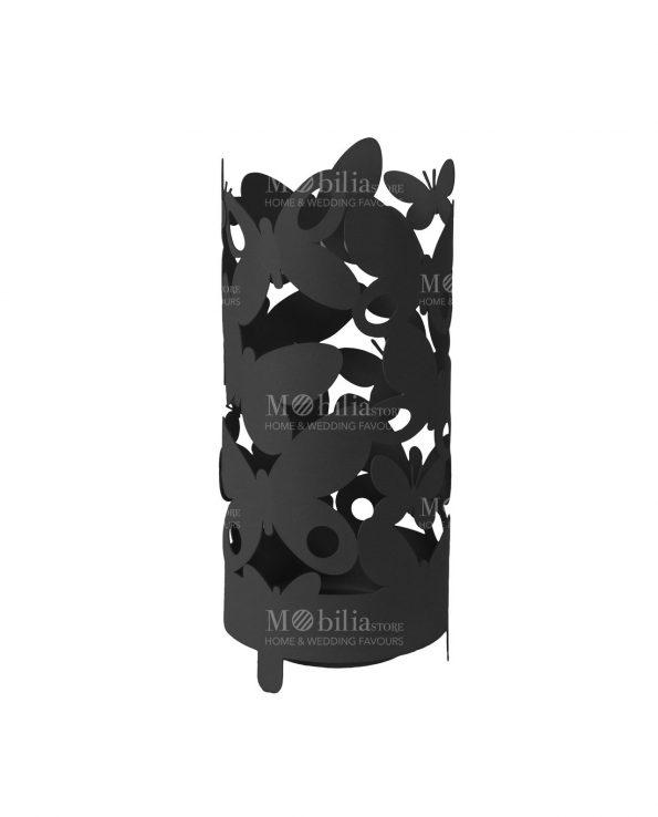portaombrelli butterfly colore nero