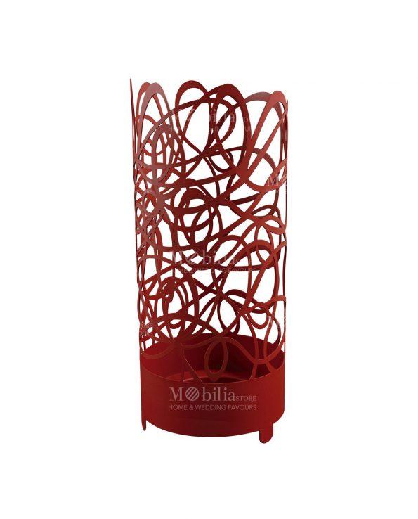portaombrelli doodle arti e mestieri colore rosso