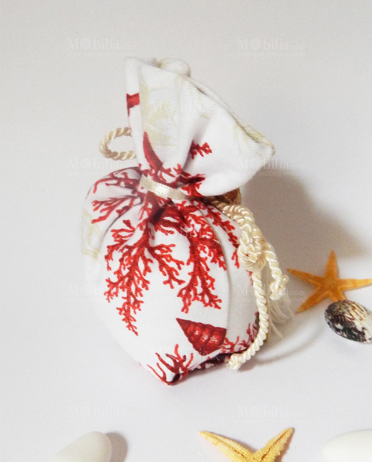 Matrimonio Tema Corallo : Sacchetti portaconfetti tema mare corallo rosso