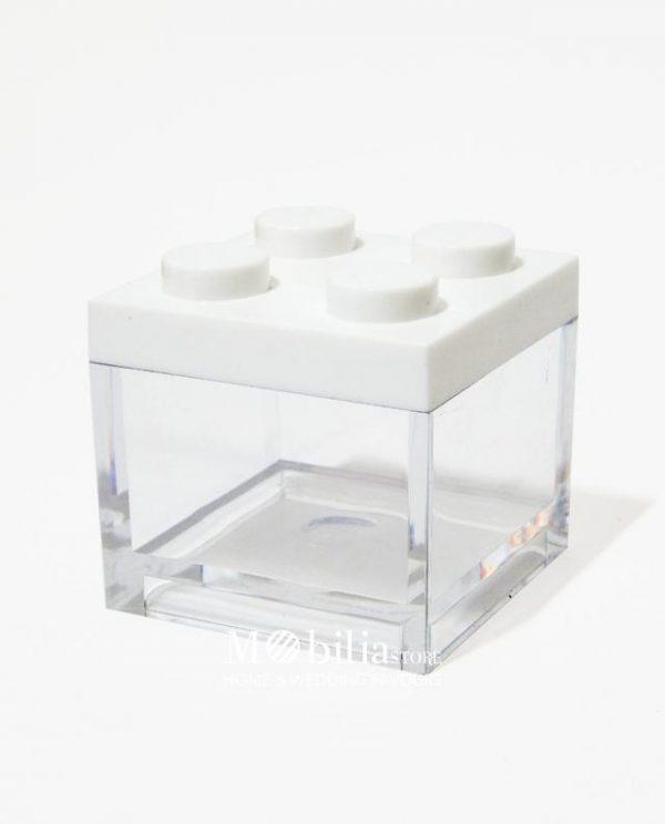 scatola lego bianca bomboniera portaconfetti