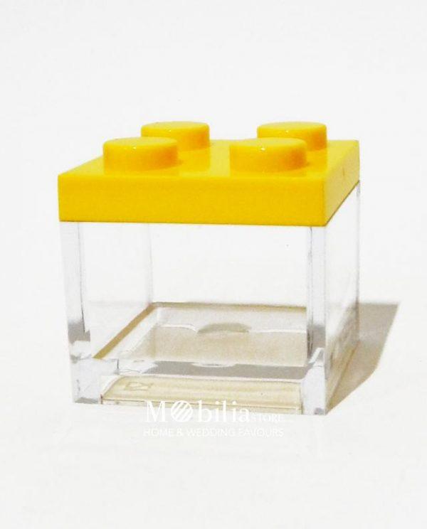 scatola lego gialla bomboniera portaconfetti