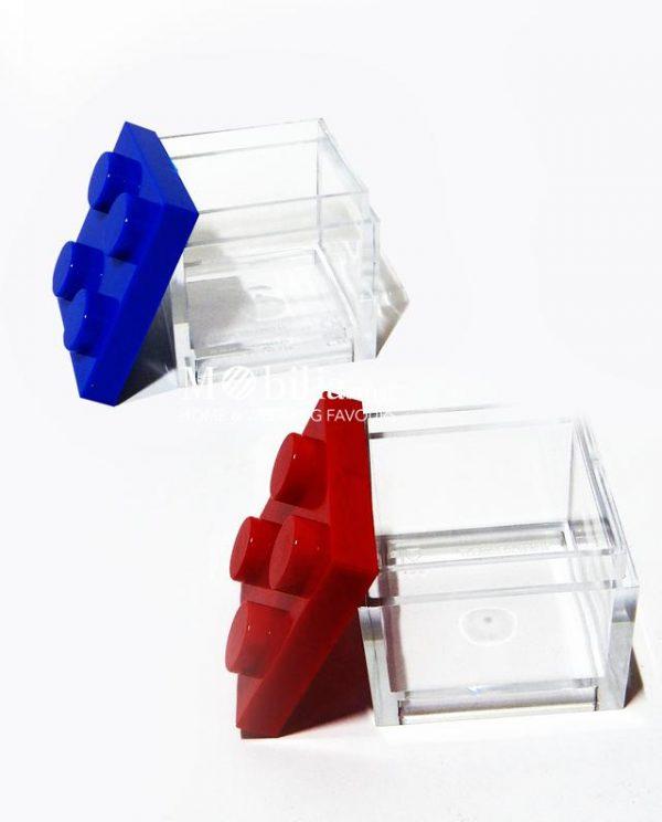 box lego scatolina portaconfetti aperta