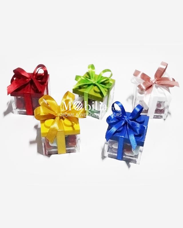 Matrimonio Tema Lego : Bomboniera scatoline portaconfetti lego vari colori