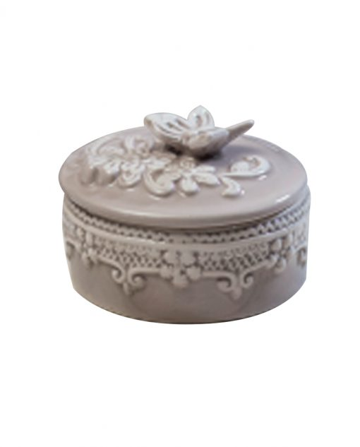 Scatola porcellana per bomboniere tortora varie misure