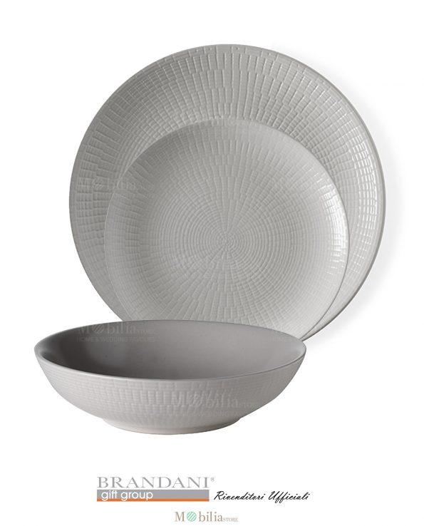 Brandani set 4 piatti moderni granaglie grigi - Piatti da cucina moderni ...